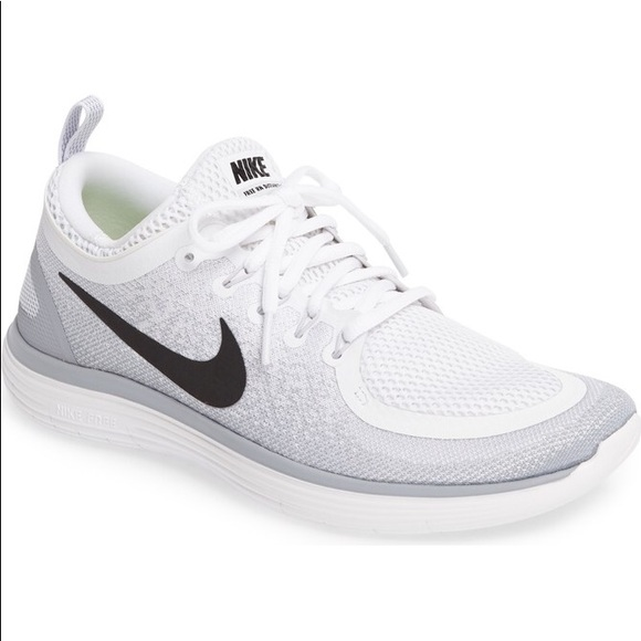 size 40 4a39d bbf7a Nike Free RN Distance 2 White and Gray Women's 7